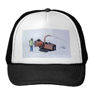 Timberwolf wood chipper trucker hat