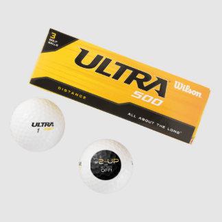 Time 2 Tee Up (black balled) Golf Balls
