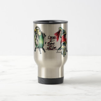"""""""Time 4 Some Action"""" 15 Oz Stainless Steel Travel Mug"""