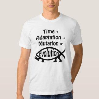 Time + Adaption + Mutation = Evolution T Shirt