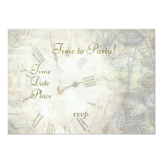 Time After Time 5x7 Paper Invitation Card