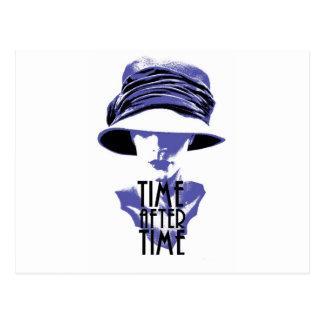 Time After Time Bleu Chapeau Postcard