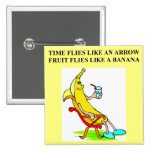 time and bananas pinback buttons
