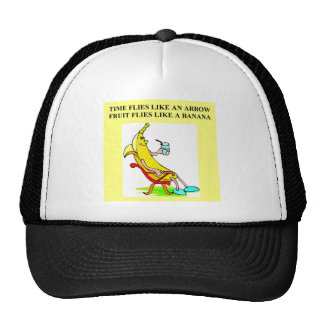 time and bananas trucker hat