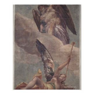 Time and Fame, from the sacristy (fresco) Posters
