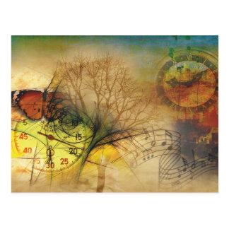 Time and music postcard