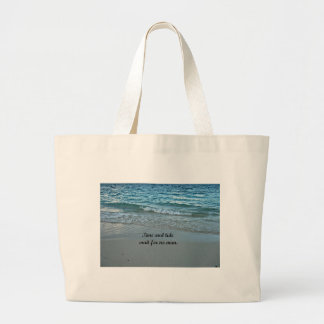 Time and tide wait for no one. jumbo tote bag