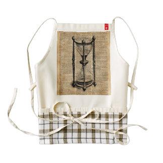 Time,antique Hourglass,sandglas Vintage Book Page Zazzle HEART Apron