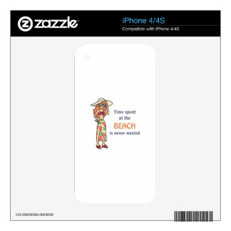 Time At The Beach iPhone 4S Skins