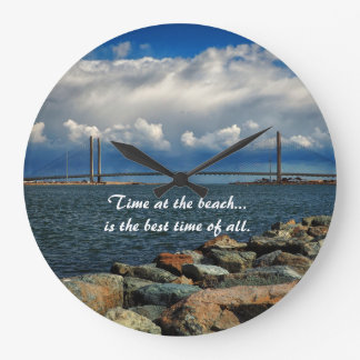 Time at the Indian River Bridge Wall Clock