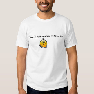 Time / Automation = More $$$ T Shirt