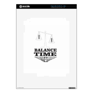 time balance tip decals for the iPad 2