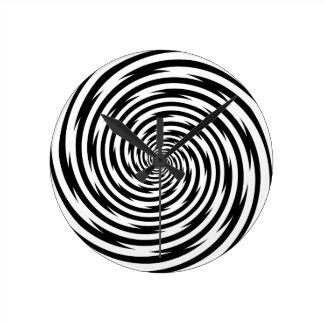 Time Bending Hypnosis Spiral Round Clock