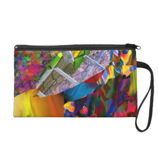 Time Bump design by James Black Wristlet Purse