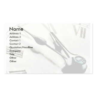 Time Card Double-Sided Standard Business Cards (Pack Of 100)