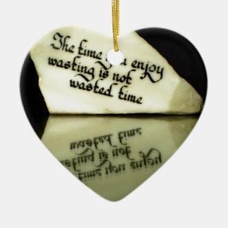 Time Ceramic Ornament