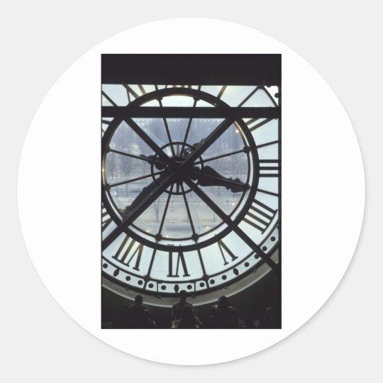 Time Classic Round Sticker