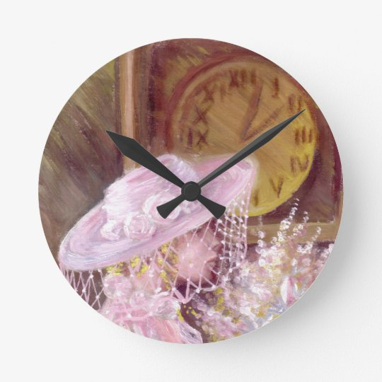 Time click with traditional painting round clock