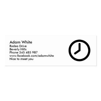 Time clock mini business card