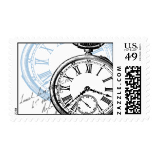 Time Clock Timepiece Watch Postage Stamps