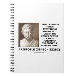 Time Crumbles Things Grows Old Aristotle Quote Notebook