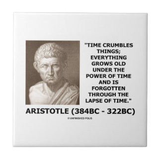 Time Crumbles Things Grows Old Aristotle Quote Tile
