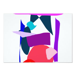 Time Curiosity Elegant Square Fruit Echo 5x7 Paper Invitation Card