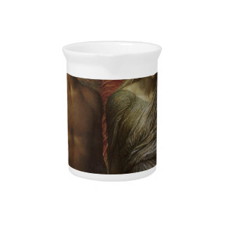Time, Death and Judgement George Frederick Watts Drink Pitcher