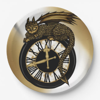 Time Dragon Paper Plate