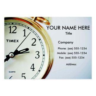 TIME ENOUGH! (Delivery, courier or messenger) ~ Large Business Card