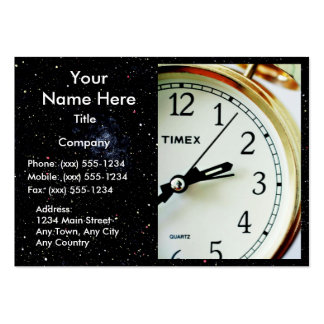 TIME ENOUGH! (Delivery, courier or messenger) v.2 Large Business Card