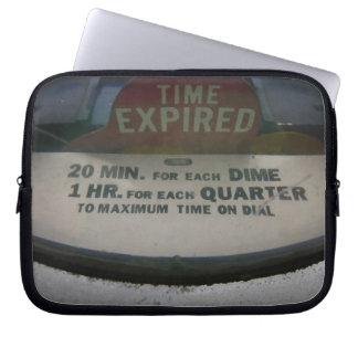 Time expired laptop sleeve