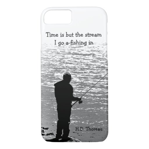 Time Fishing Thoreau Quotation iPhone 7 Case