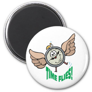 Time Flies 2 Inch Round Magnet