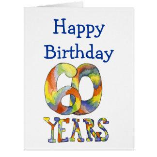 Time Flies 60th Birthday Big Card