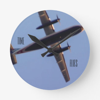 Time Flies Airplane Photo Clock