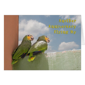 Time Flies Anniversary Greeting Card
