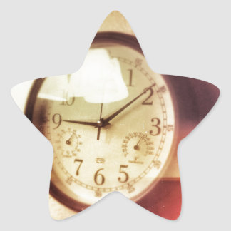 Time Flies By Star Sticker
