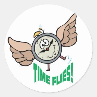 Time Flies Classic Round Sticker