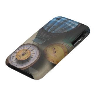 Time Flies Dirigible Steampunk Clock Air Ships iPhone 3 Cover