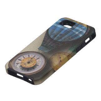 Time Flies Dirigible Steampunk Clock Air Ships iPhone SE/5/5s Case