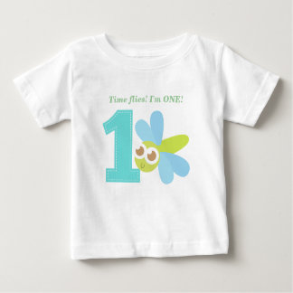 Time Flies! I'm One! Dragonfly, First Birthday Baby T-Shirt