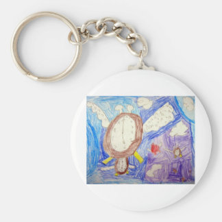 time flies basic round button keychain