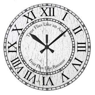 Time Flies Like an Arrow Large Clock