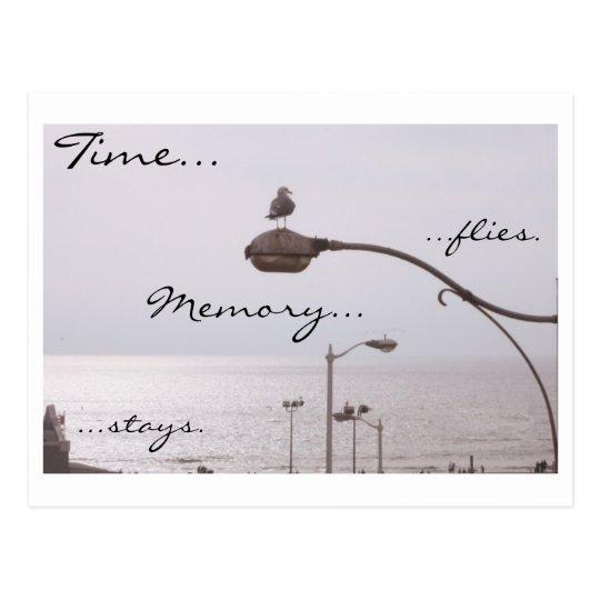 Time...flies. Memory...stays. Postcard
