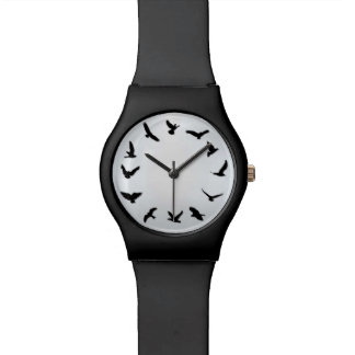 Time Flies Minimalist Novelty Bird May28th Watch