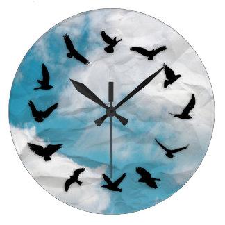 Time Flies Minimalist Novelty Bird Wall Clock