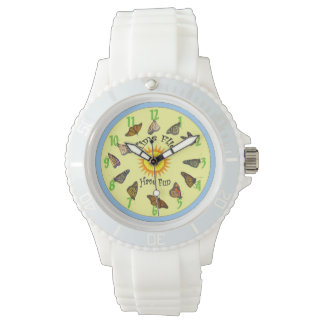 Time Flies Monarch Butterflies Watch