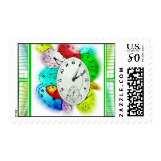 Time Flies Postage Stamps