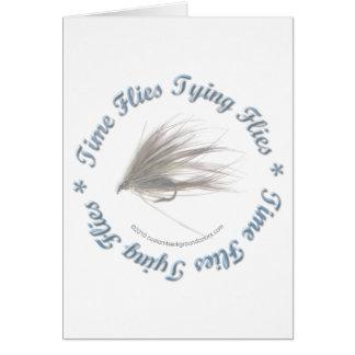 Time Flies Tying Flies Card